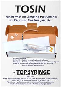 DGA glass syringe | Transformer Oil Syringe | TRANSFORMER OIL