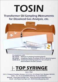 DGA glass syringe | Transformer Oil Syringe | TRANSFORMER